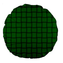 Green Weave 18  Premium Round Cushion