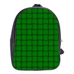 Green Weave School Bag (xl)