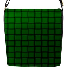 Green Weave Flap closure messenger bag (Small)