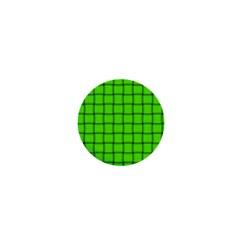 Bright Green Weave 1  Mini Button Magnet