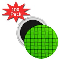 Bright Green Weave 1.75  Button Magnet (100 pack)