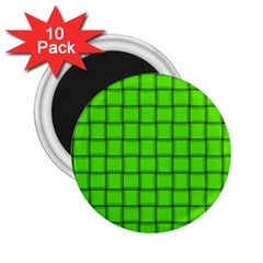 Bright Green Weave 2.25  Button Magnet (10 pack)