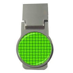 Bright Green Weave Money Clip (Round)