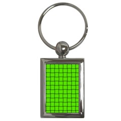 Bright Green Weave Key Chain (rectangle)
