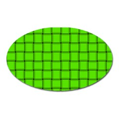 Bright Green Weave Magnet (Oval)