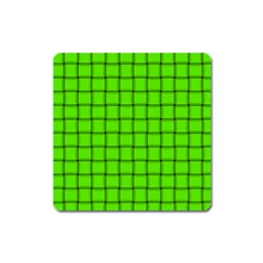 Bright Green Weave Magnet (Square)