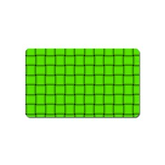Bright Green Weave Magnet (name Card)