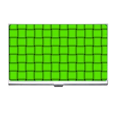 Bright Green Weave Business Card Holder