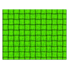 Bright Green Weave Jigsaw Puzzle (Rectangle)