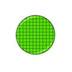 Bright Green Weave Golf Ball Marker 10 Pack (for Hat Clip)