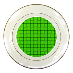 Bright Green Weave Porcelain Display Plate