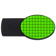 Bright Green Weave 4GB USB Flash Drive (Oval)