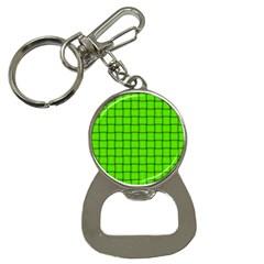 Bright Green Weave Bottle Opener Key Chain