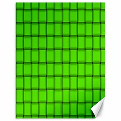 Bright Green Weave Canvas 12  x 16  (Unframed)