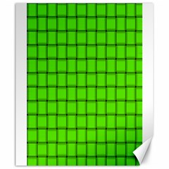 Bright Green Weave Canvas 20  x 24  (Unframed)
