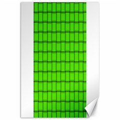 Bright Green Weave Canvas 20  x 30  (Unframed)