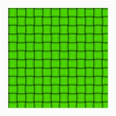 Bright Green Weave Glasses Cloth (medium, Two Sided)