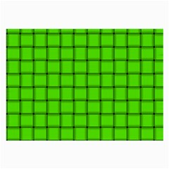 Bright Green Weave Glasses Cloth (large, Two Sided)