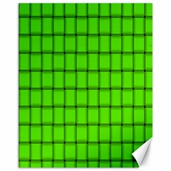 Bright Green Weave Canvas 11  x 14  9 (Unframed)