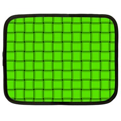 Bright Green Weave Netbook Case (Large)
