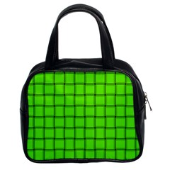 Bright Green Weave Classic Handbag (Two Sides)