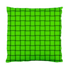 Bright Green Weave Cushion Case (one Side)