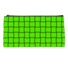 Bright Green Weave Pencil Case
