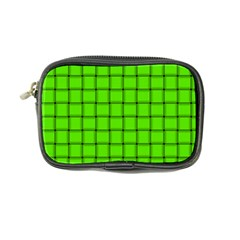 Bright Green Weave Coin Purse
