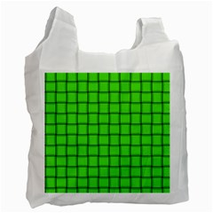 Bright Green Weave Recycle Bag (two Sides)