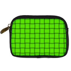 Bright Green Weave Digital Camera Leather Case