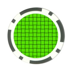 Bright Green Weave Poker Chip 10 Pack