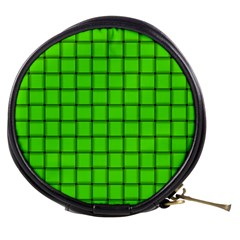 Bright Green Weave Mini Makeup Case