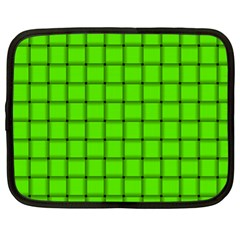 Bright Green Weave Netbook Case (XL)