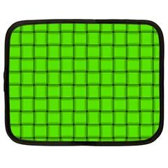 Bright Green Weave Netbook Case (xxl)