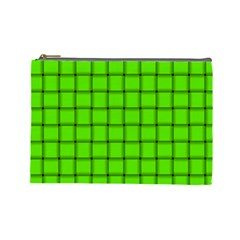Bright Green Weave Cosmetic Bag (Large)