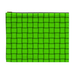 Bright Green Weave Cosmetic Bag (XL)