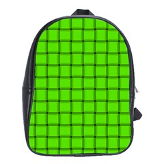 Bright Green Weave School Bag (Large)