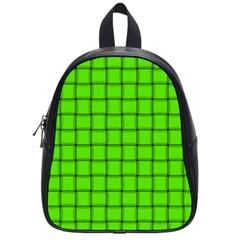 Bright Green Weave School Bag (Small)