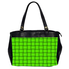 Bright Green Weave Oversize Office Handbag (two Sides)
