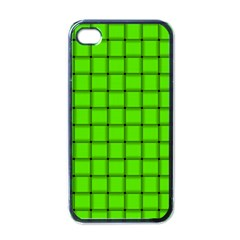 Bright Green Weave Apple iPhone 4 Case (Black)