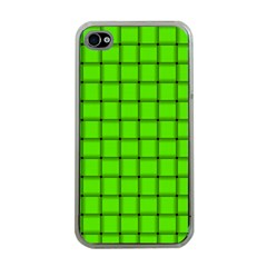 Bright Green Weave Apple iPhone 4 Case (Clear)
