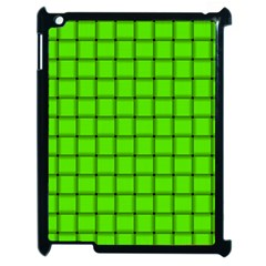 Bright Green Weave Apple iPad 2 Case (Black)