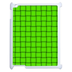Bright Green Weave Apple iPad 2 Case (White)