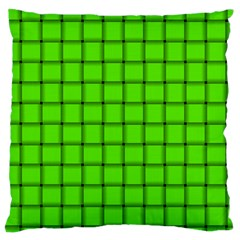 Bright Green Weave Large Cushion Case (One Side)