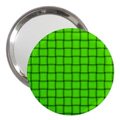 Bright Green Weave 3  Handbag Mirror