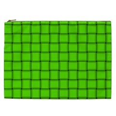 Bright Green Weave Cosmetic Bag (XXL)