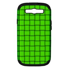 Bright Green Weave Samsung Galaxy S III Hardshell Case (PC+Silicone)