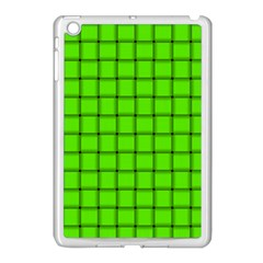 Bright Green Weave Apple Ipad Mini Case (white)