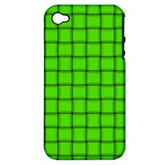 Bright Green Weave Apple iPhone 4/4S Hardshell Case (PC+Silicone)