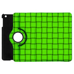 Bright Green Weave Apple iPad Mini Flip 360 Case